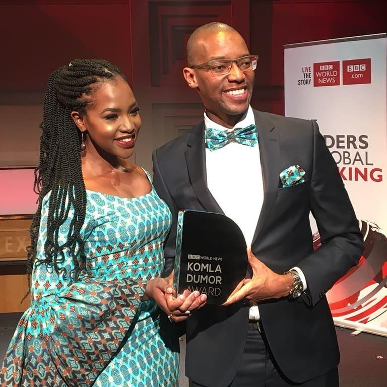 Waihiga Mwaura: Winner Of BBC World News Komla Dumor Award 2018, With Wife  Joyce Omondi